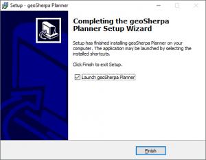 geoSherpa Planner Installation Step 5